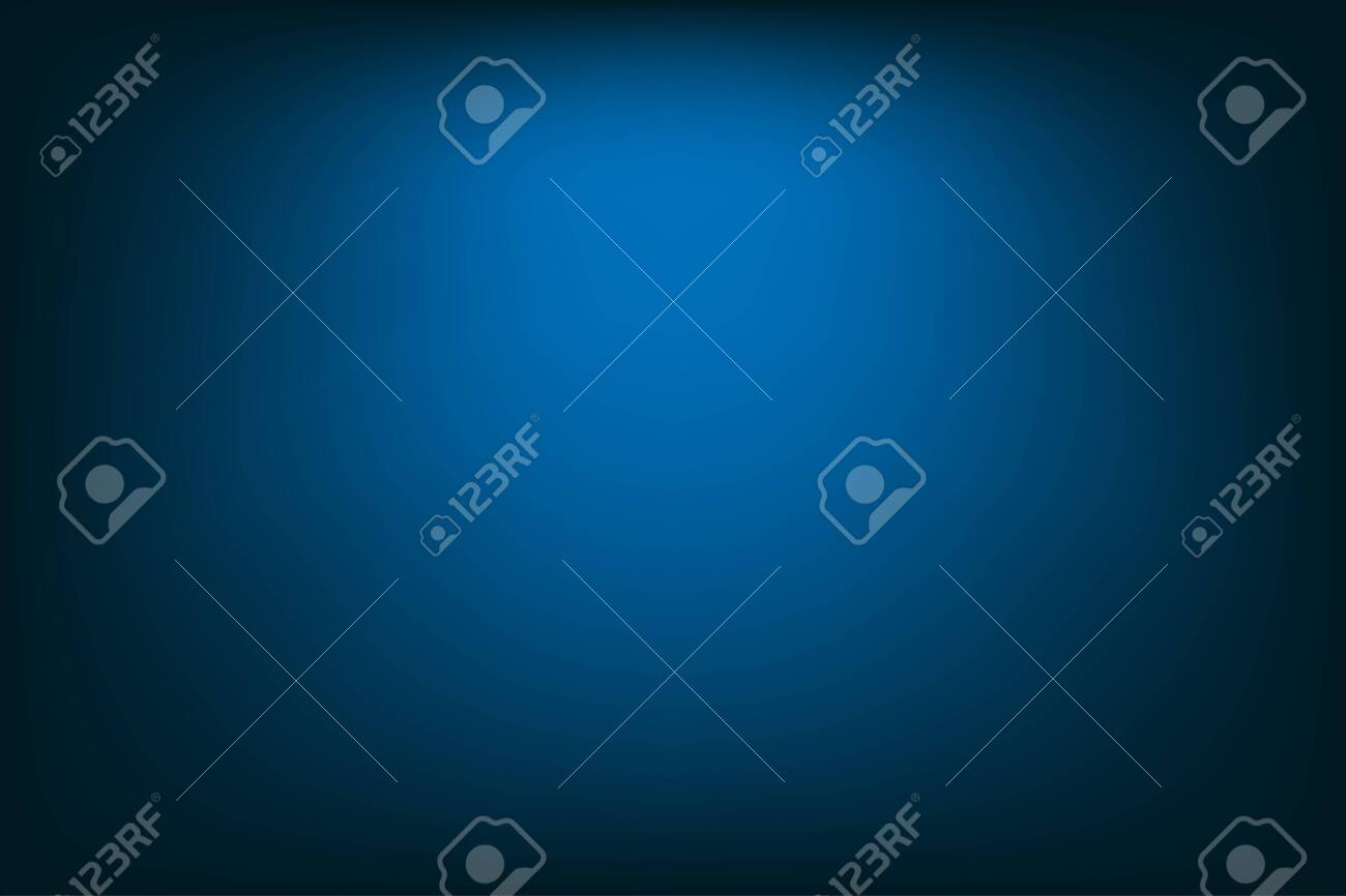 Dark blue background with vignetting as the effect of light direction. Iillustration background. - 154450097
