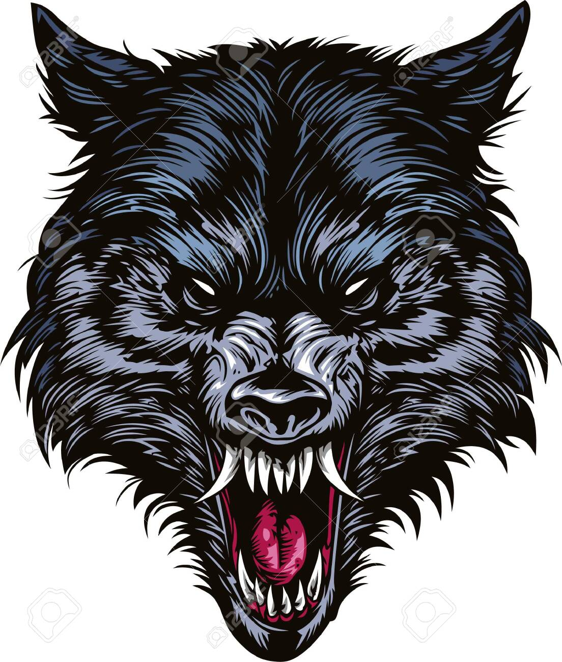 Angry Wolf Head For Tshirt Design Tshirt Design Element Angry Royalty Free Cliparts Vectors And Stock Illustration Image 149082296