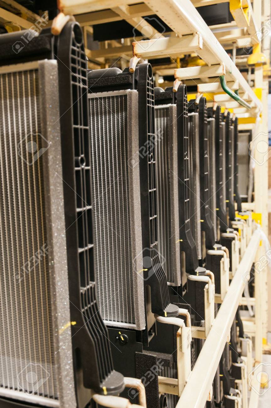 Design of a car radiator - Radiator Car In The Packaging Product Of Industrial Design Stock Photo 22685739