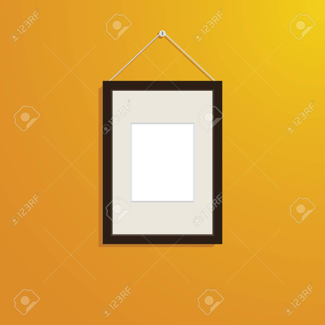 Frame Picture On Wall Decorate Royalty Free Cliparts, Vectors, And ...