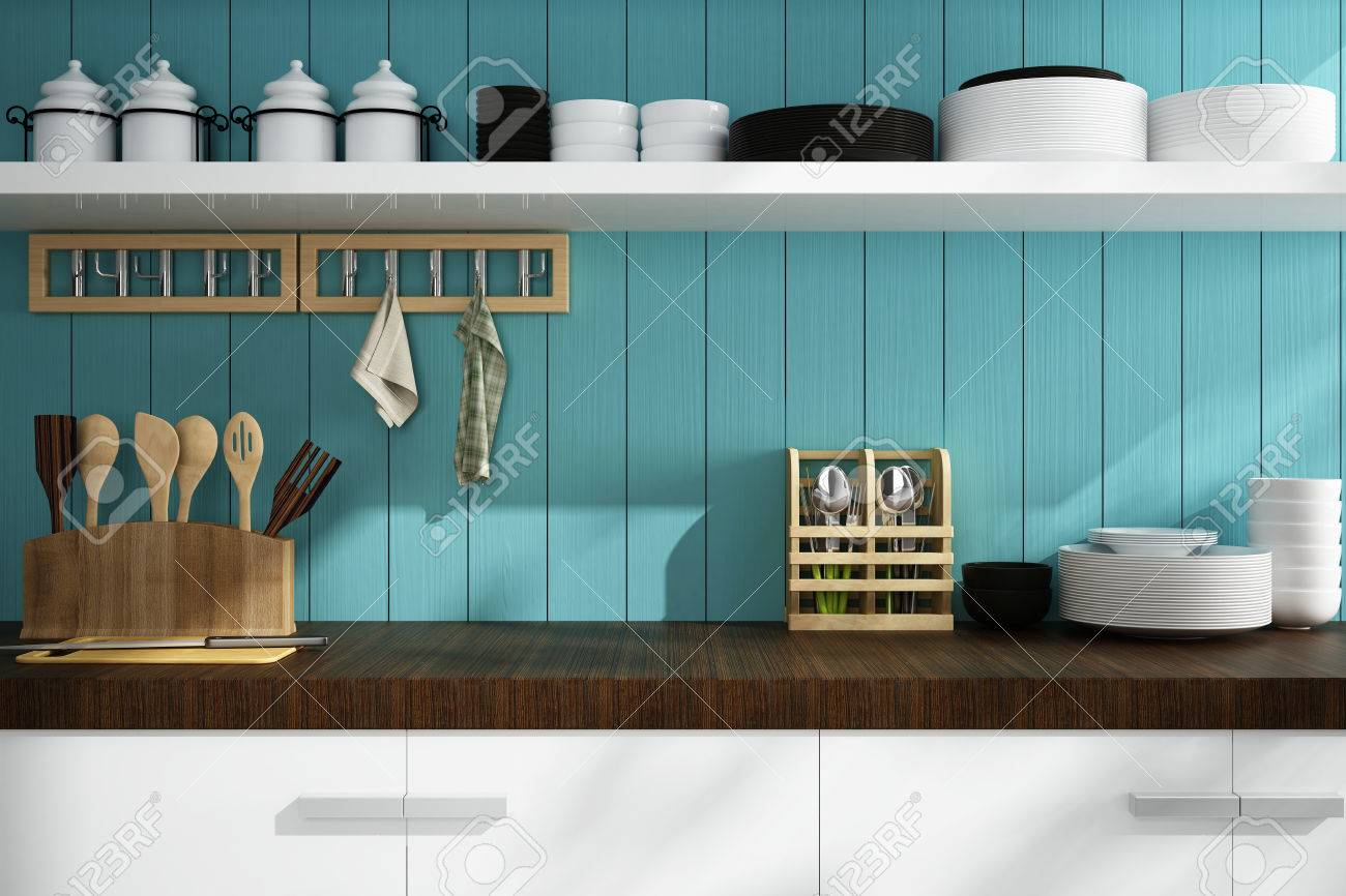 closeup of counter and Kitchen Accessories