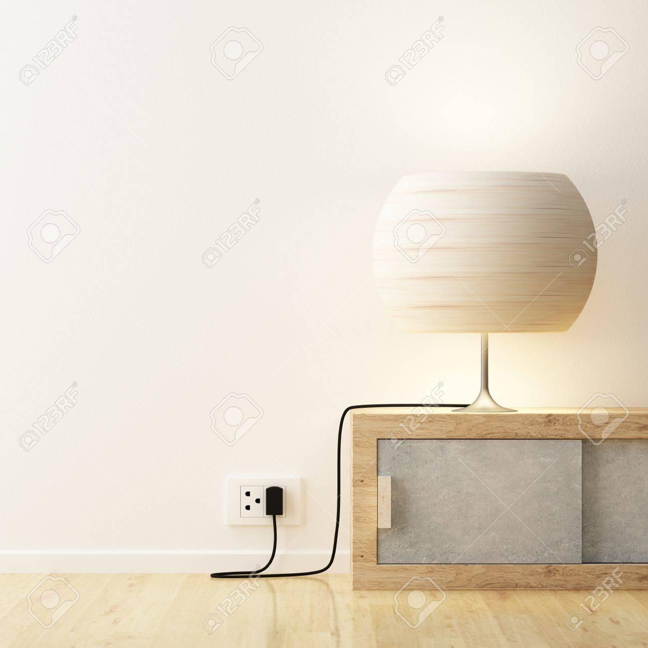 Witte Lamp Op De Kast Te Versieren Royalty-Vrije Foto, Plaatjes ...