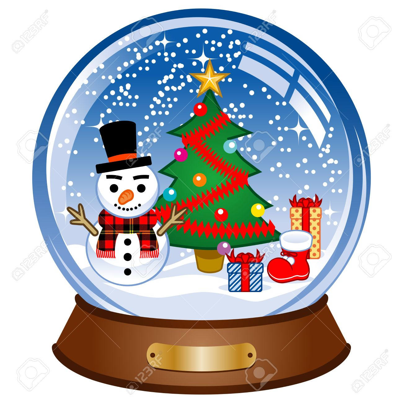 snow globe with snowman royalty free cliparts vectors and stock rh 123rf com