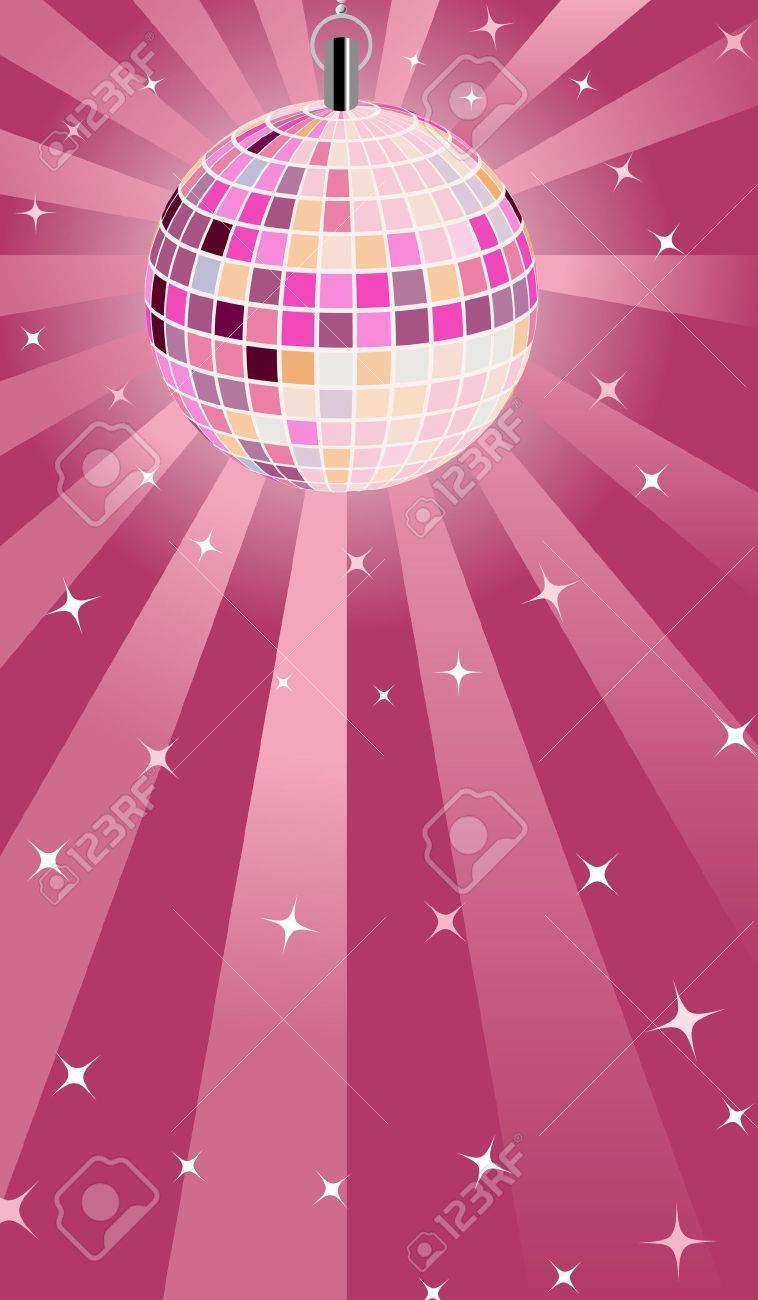Pink Disco ball - 12847667