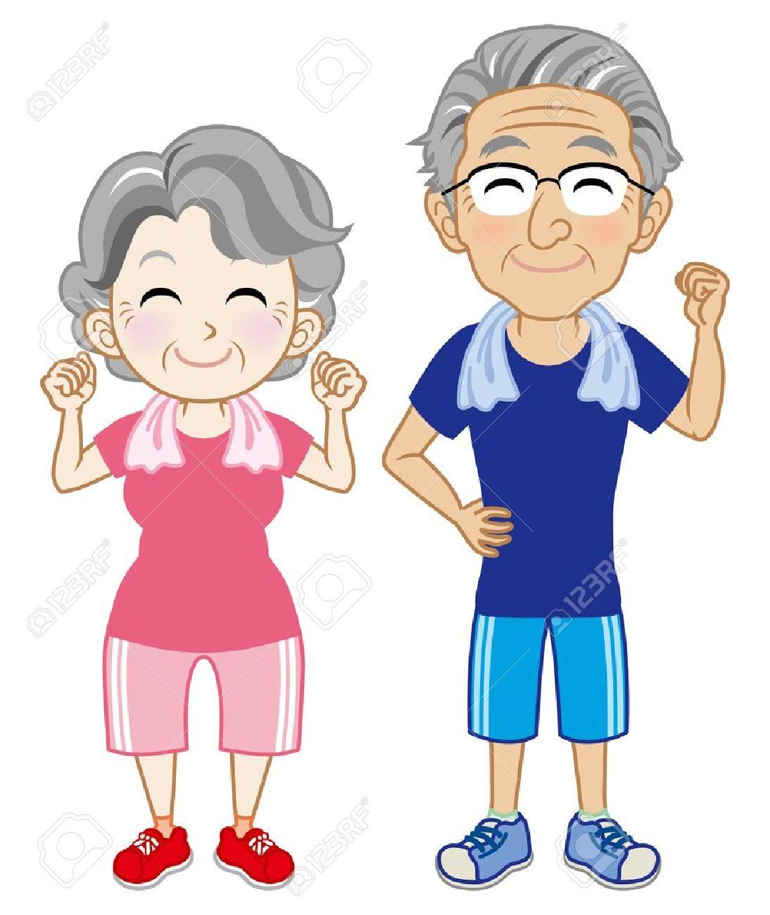 Chair exercise for seniors - Chair Exercises For Elderly Senior Exercise Senior Couple Wearing Short Sleeves Sportswear