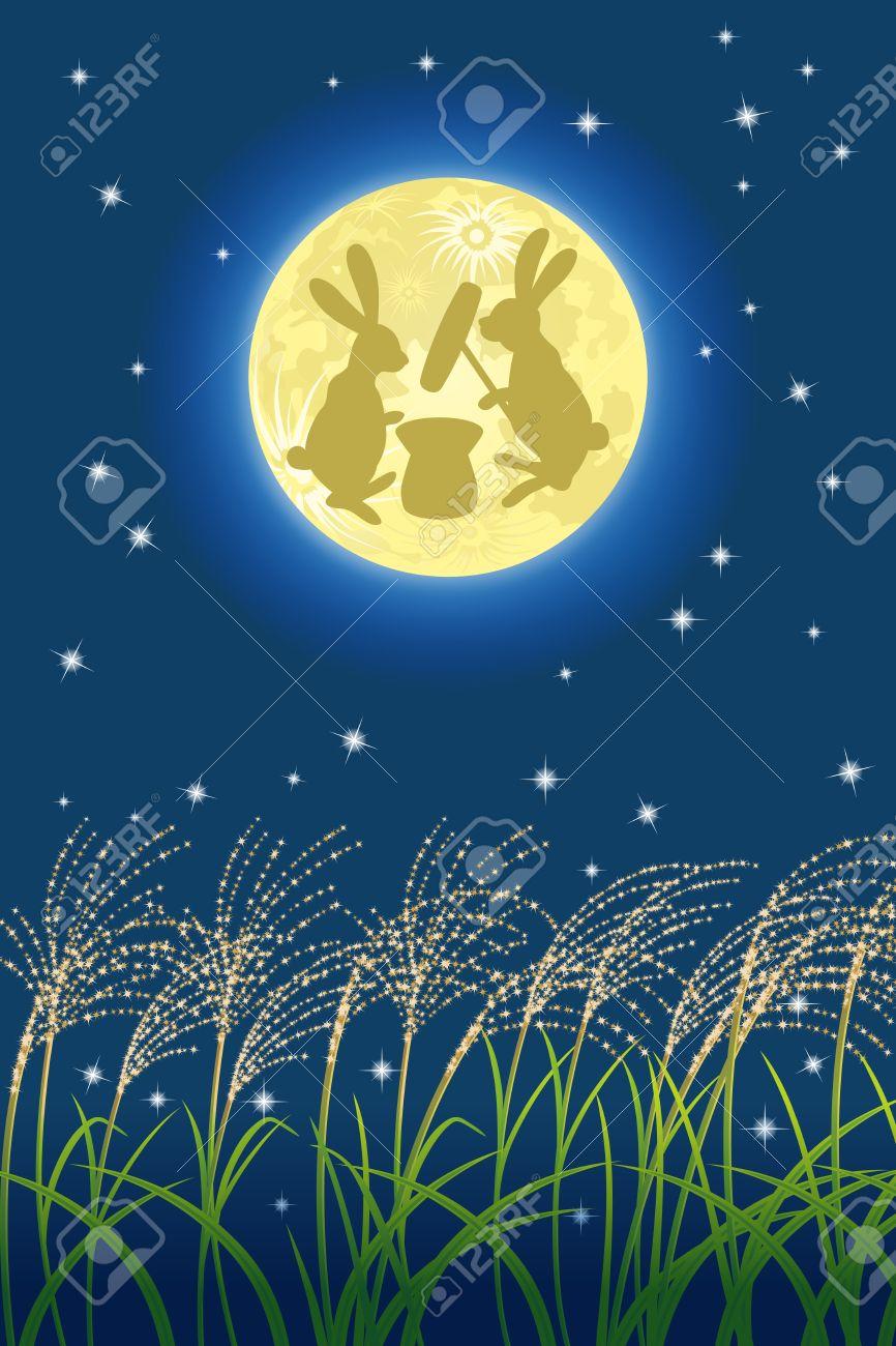 Japanese full moon image Stock Vector - 15116282