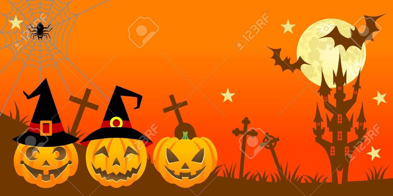 Halloween night,Horizontal Stock Vector - 15250411