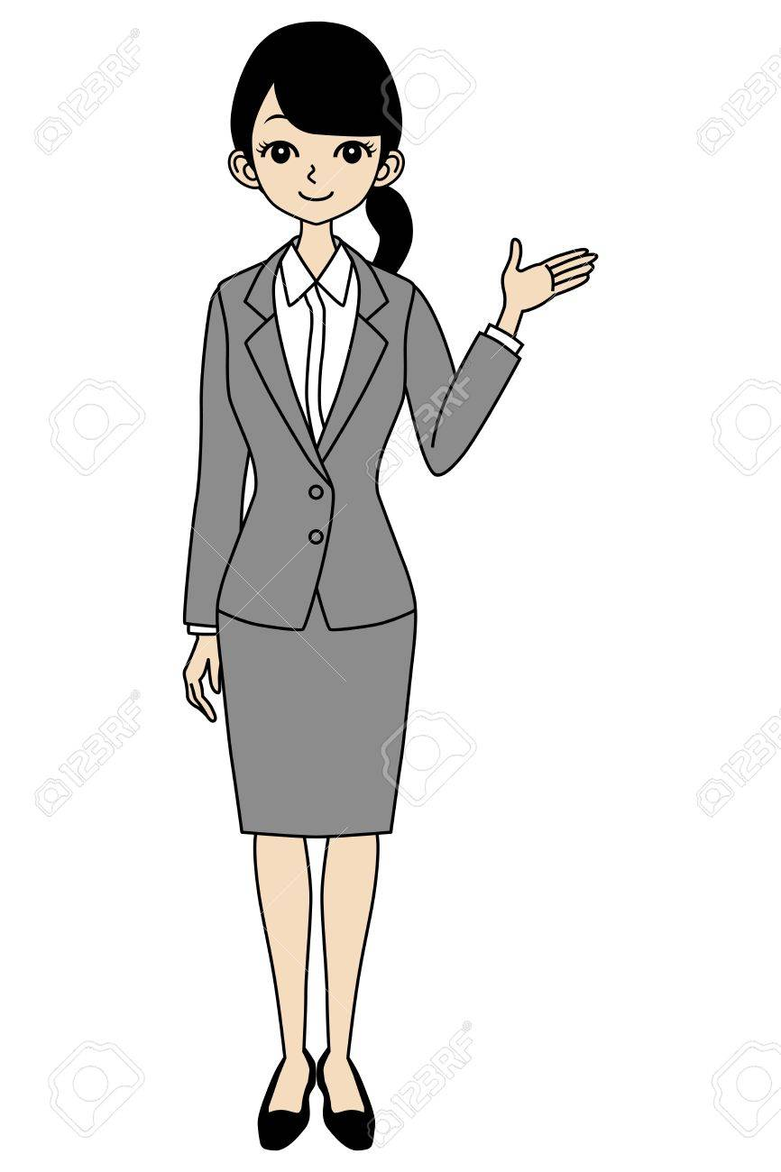 Businesswoman Guide Stock Vector - 17255979