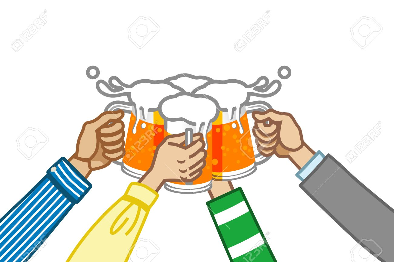 toast with beer,white back Stock Vector - 17631975