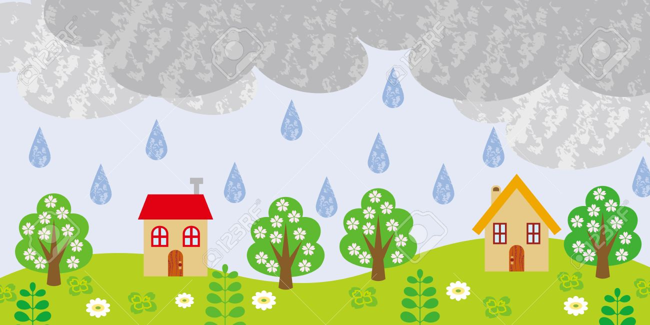 small village on rainy day royalty free cliparts vectors and stock rh 123rf com rainy day clipart pictures rainy day clip art images