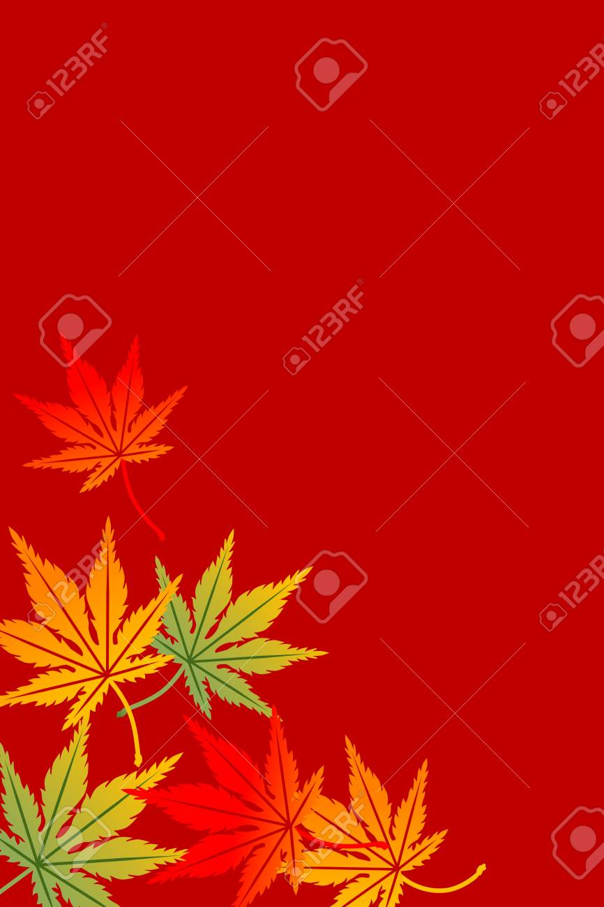 Maple background,Vertical Stock Vector - 21471915