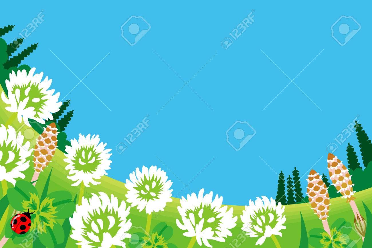 Wildflowers in Spring Meadow Stock Vector - 24932884