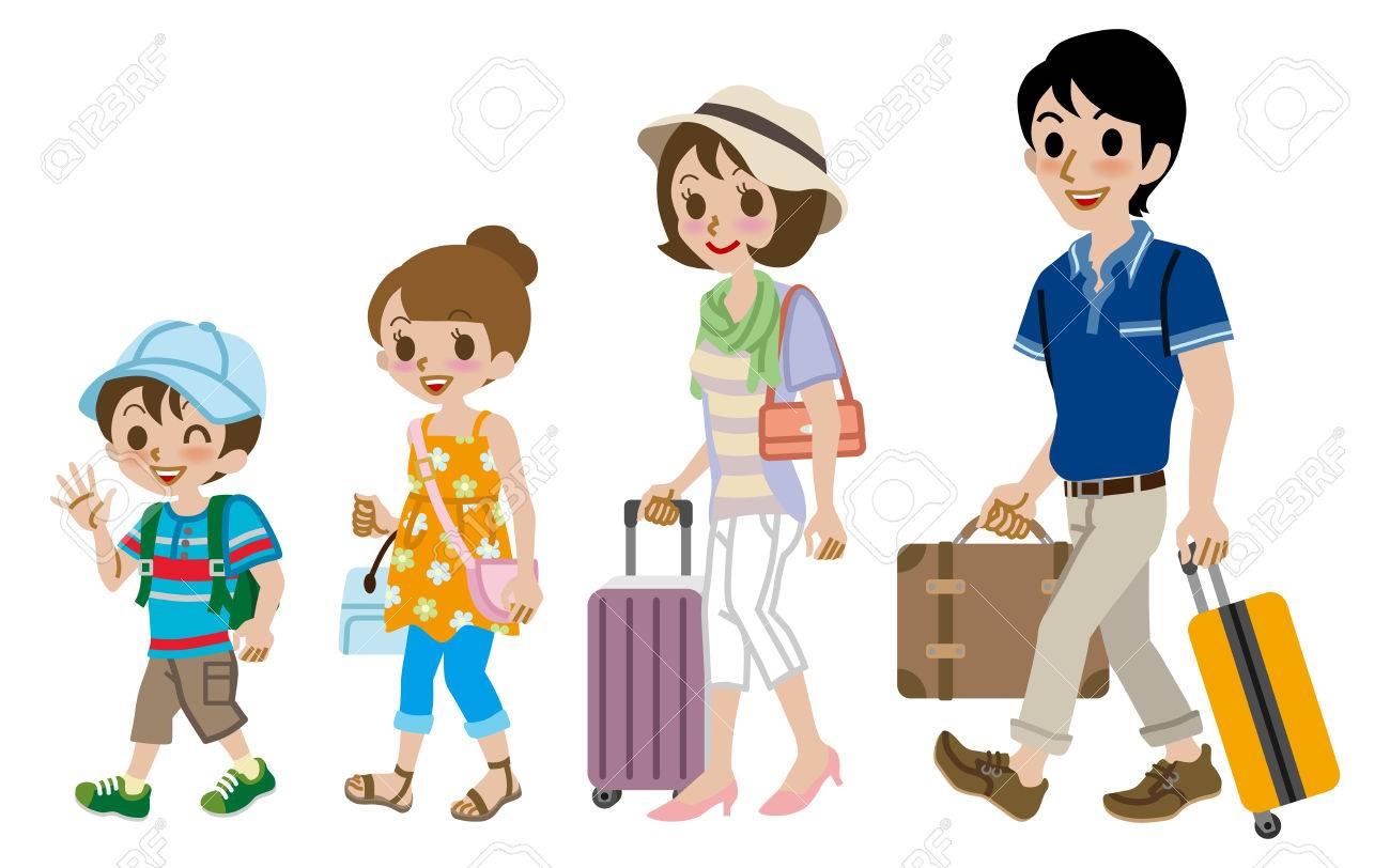 Family traveller, Isolated - 27751420