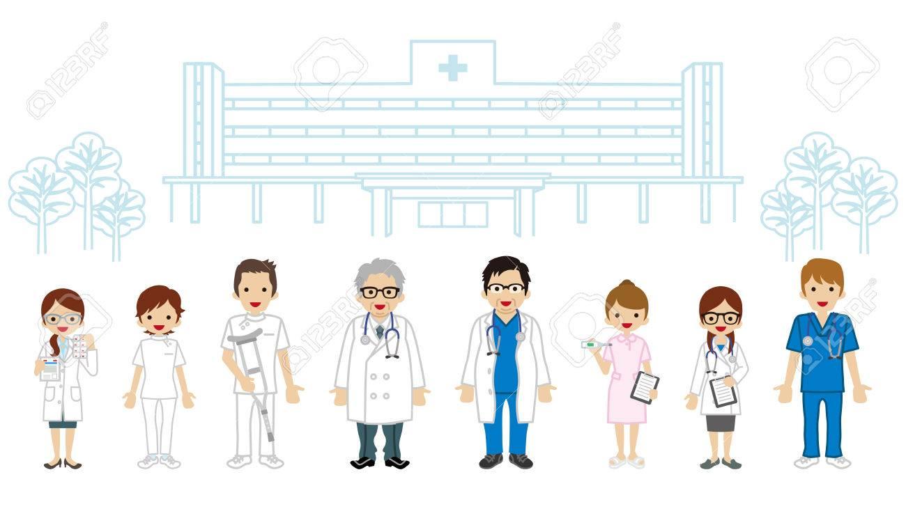 職業チーム医療 病院の背景のイラスト素材 ベクタ Image 67256254