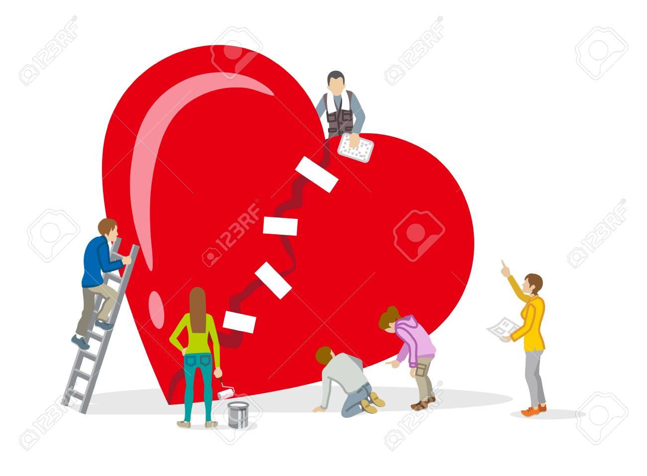 Repair of heart - Mental health Concept art - 92432968