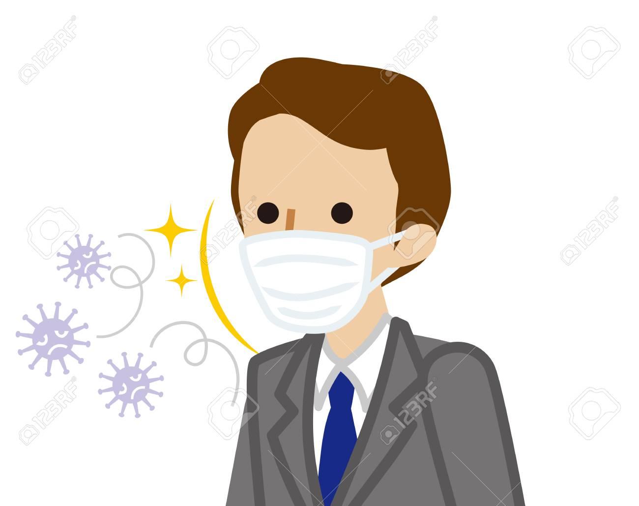 mask for flu virus