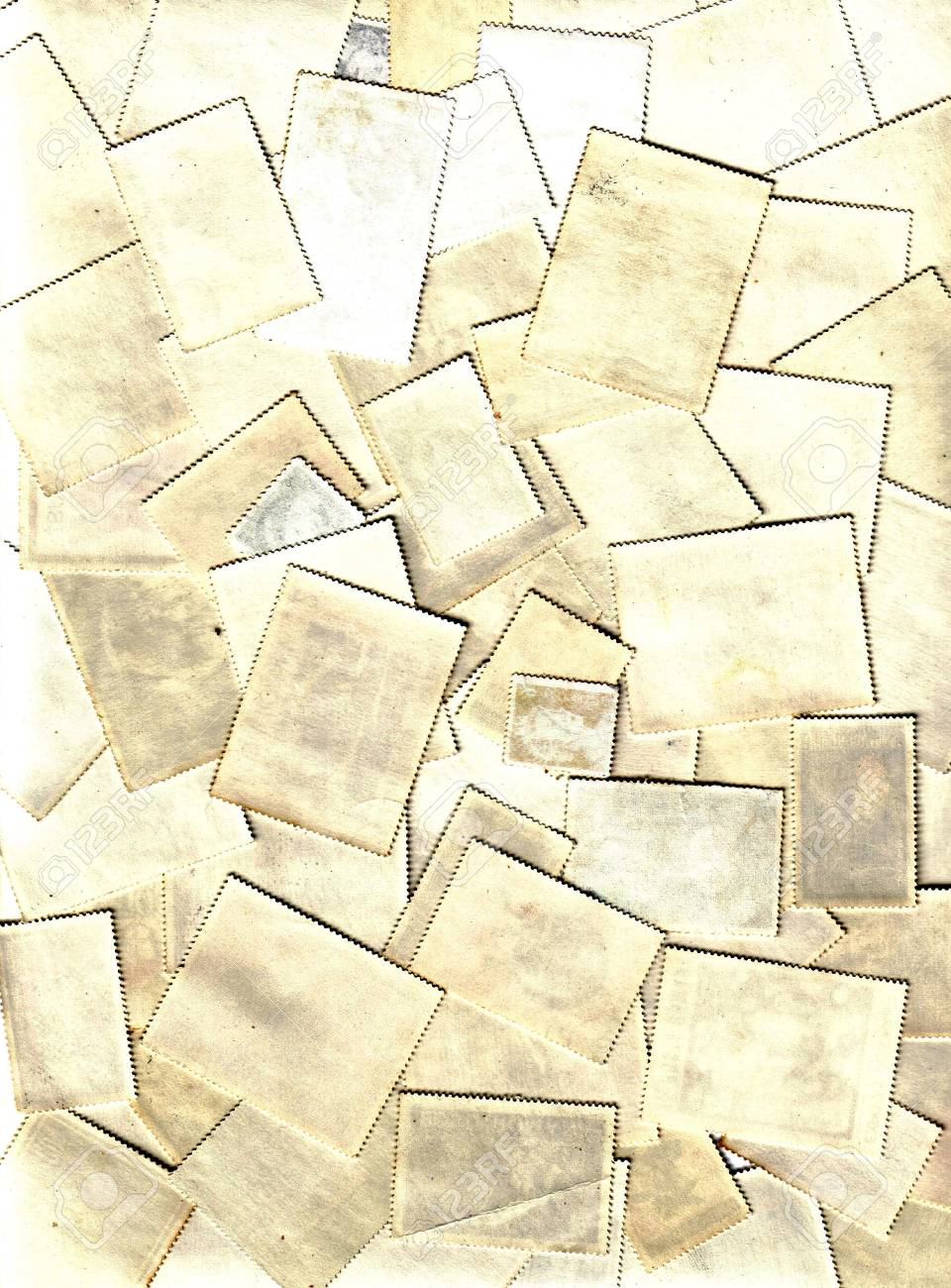 collection of blank post stamps Stock Photo - 5915710