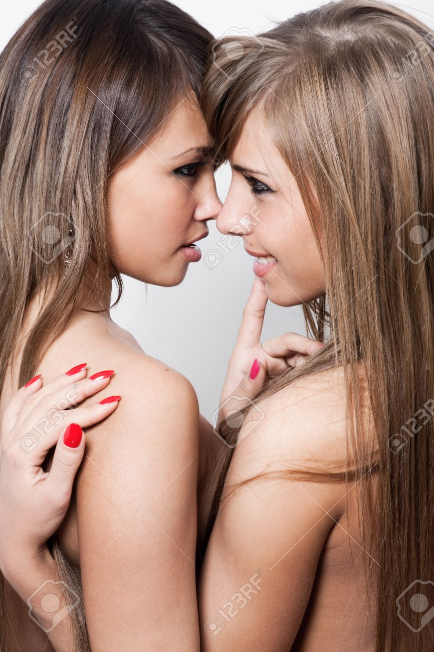two naked lesbians stock photo, picture and royalty free image