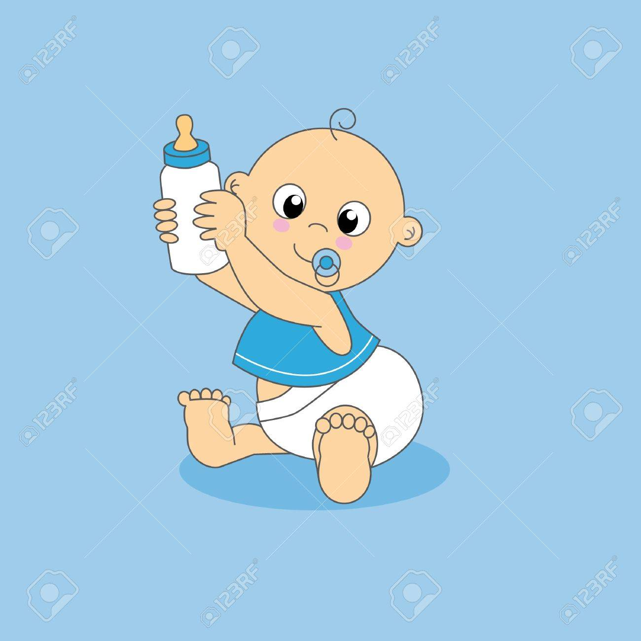 Baby boy greeting card baby with a bottle royalty free cliparts baby boy greeting card baby with a bottle stock vector 9198569 m4hsunfo