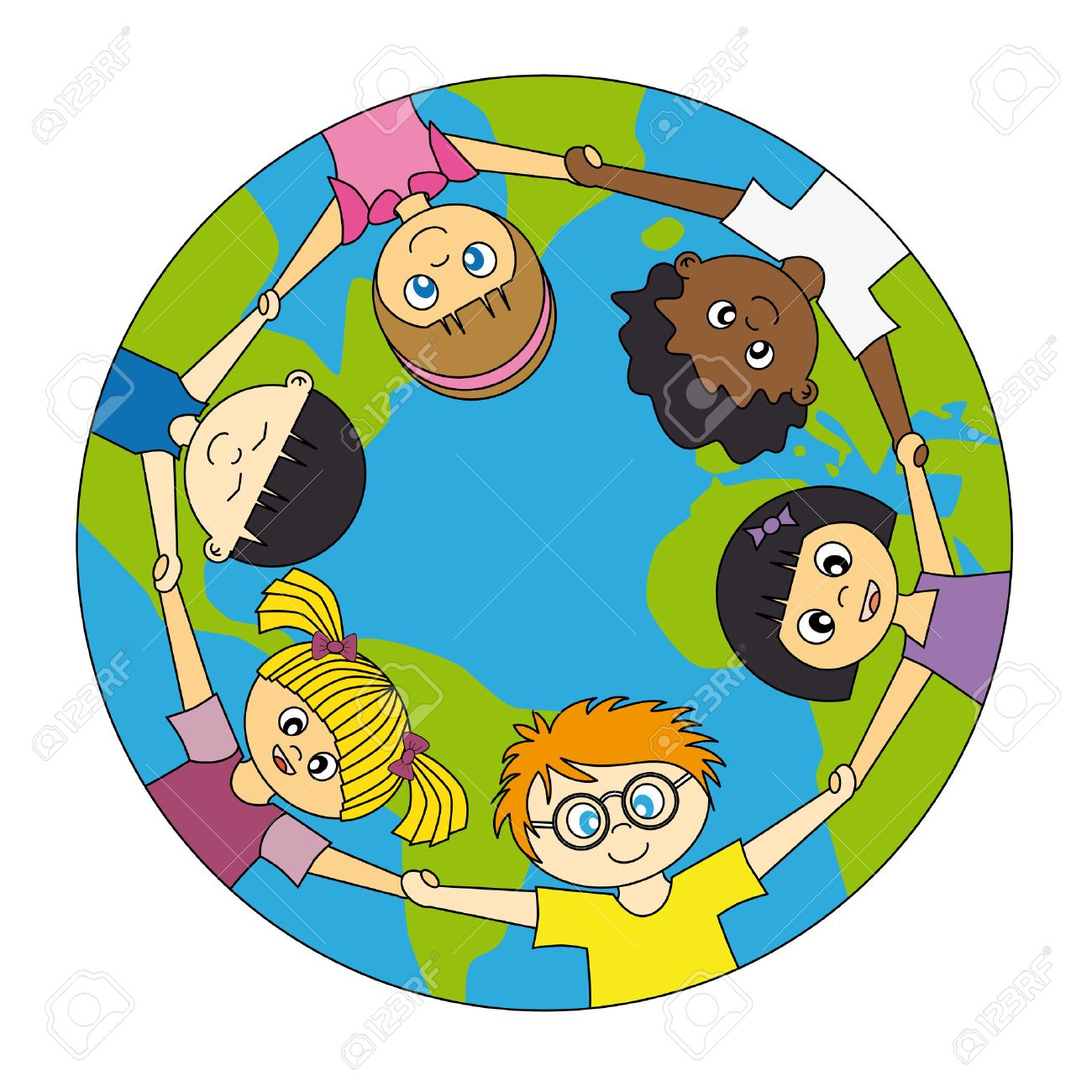 children around the world united Stock Vector - 9318906