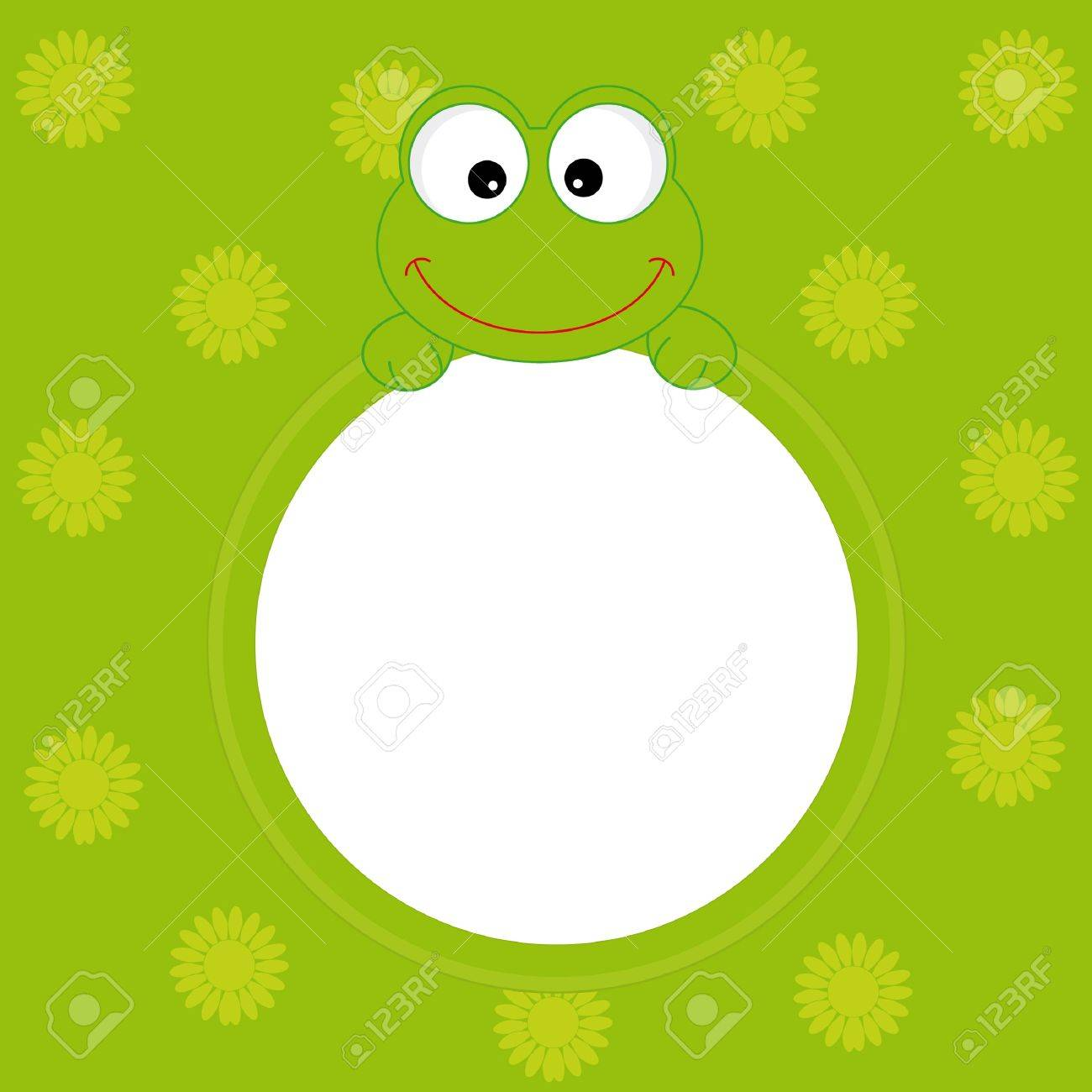 Greeting Card. Frog Frame Royalty Free Cliparts, Vectors, And Stock ...