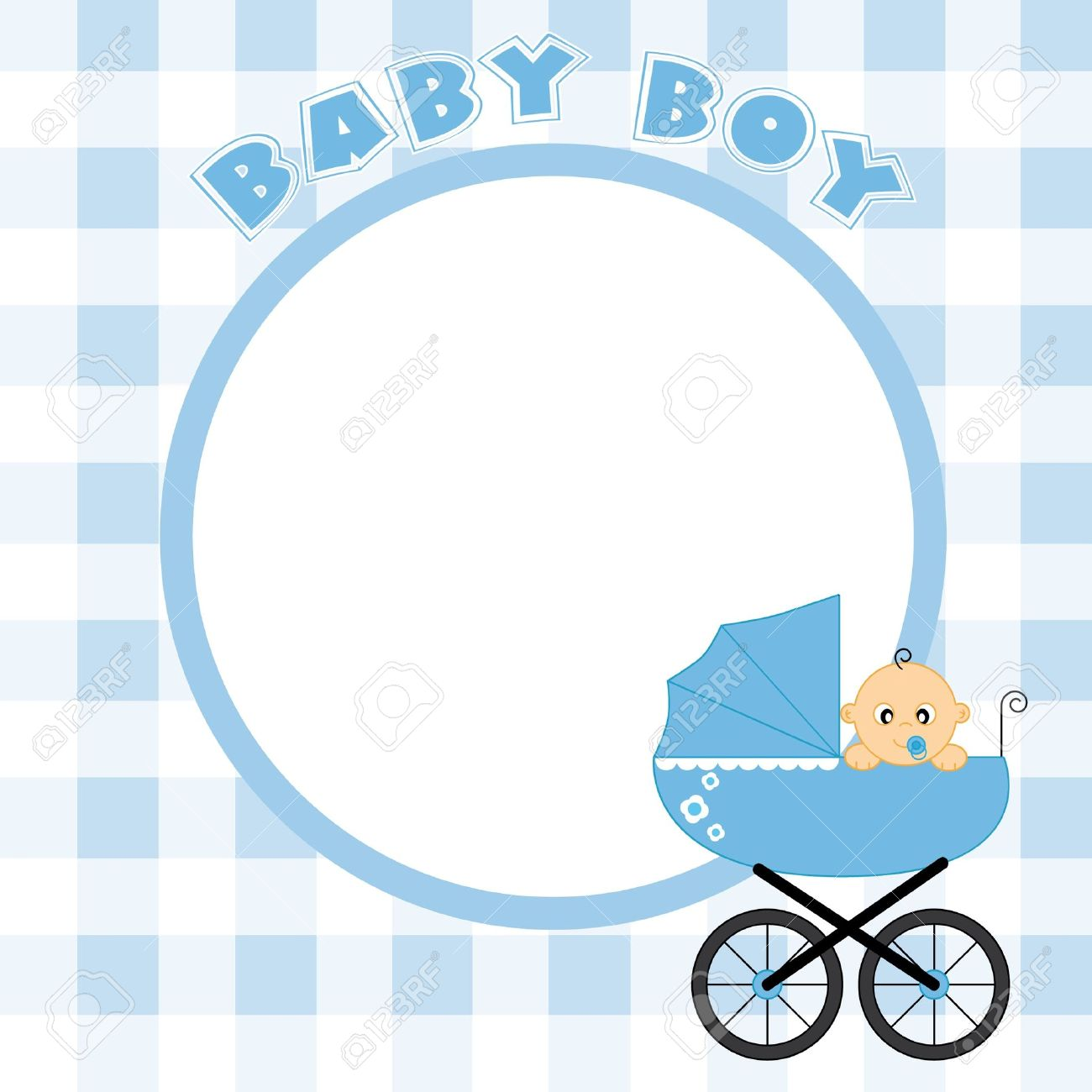 baby boy frame for text or photo stock vector 9426576