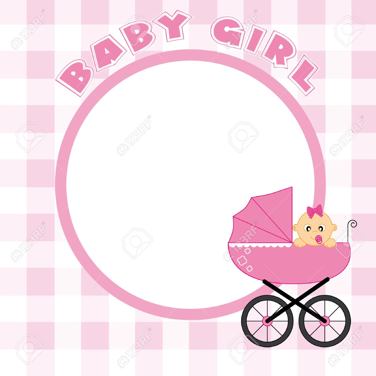 baby girl frame for text or photo stock vector 9426582