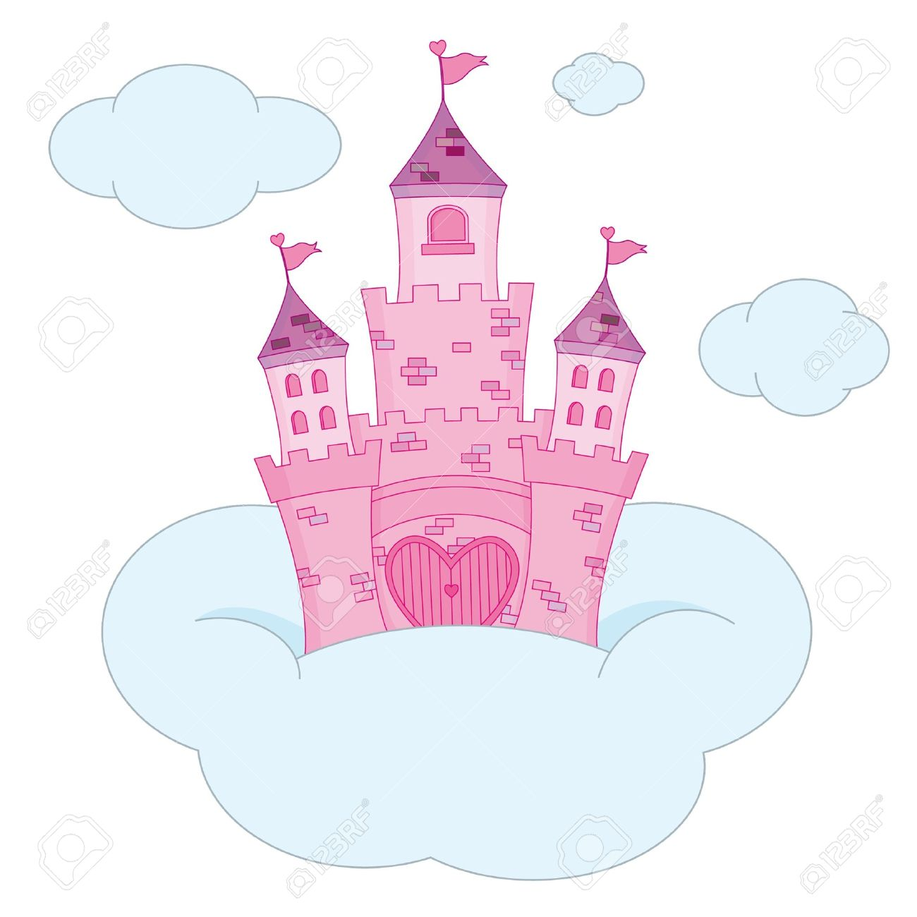 Pink Princess Castle Stock Vector - 9515466