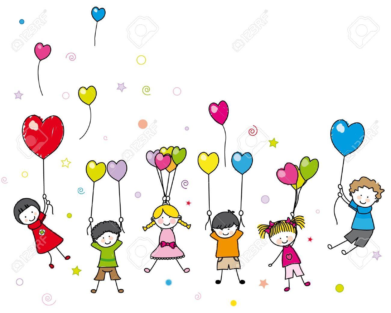 Ребенок с воздушным шариком рисунок