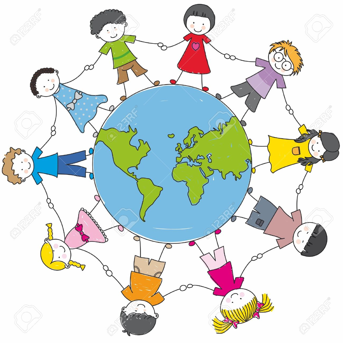 Kinderkreis clipart  Kinder Kreis Lizenzfreie Vektorgrafiken Kaufen: 123RF