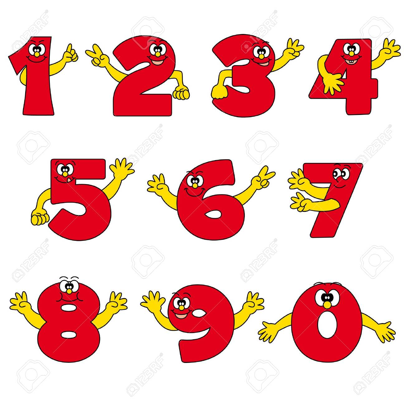 funny number cartoon collection Stock Vector - 13506194