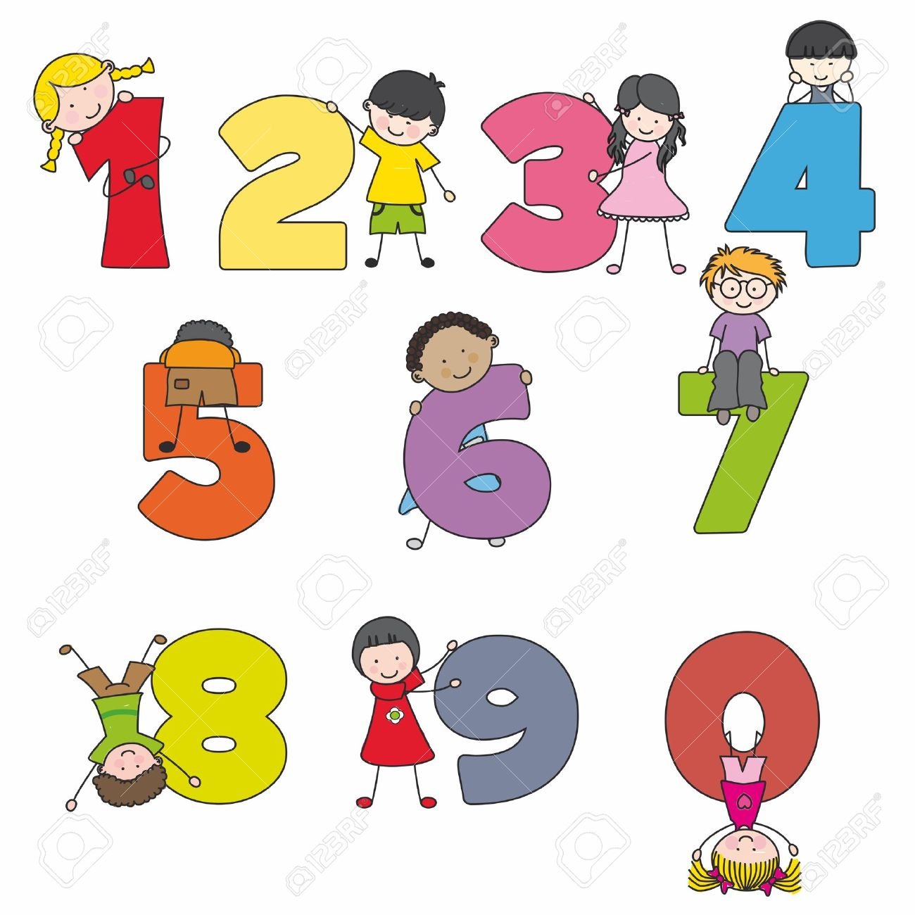 Funny numbers with children Learning to count - 13506199