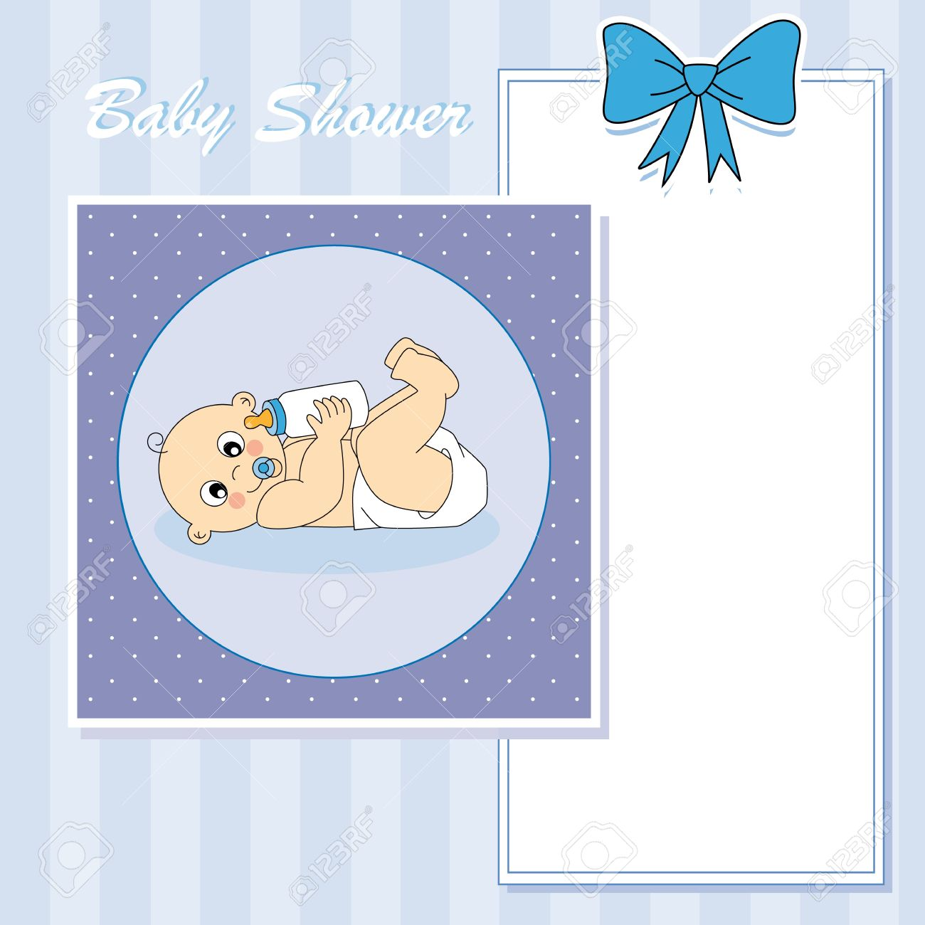 Baby boy arrival announcement card Stock Vector - 13633239