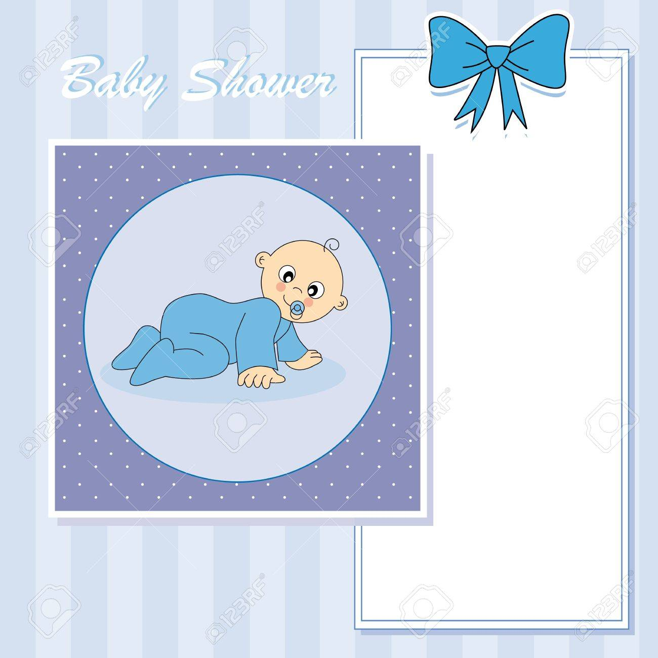 Baby boy arrival announcement card Stock Vector - 13728239