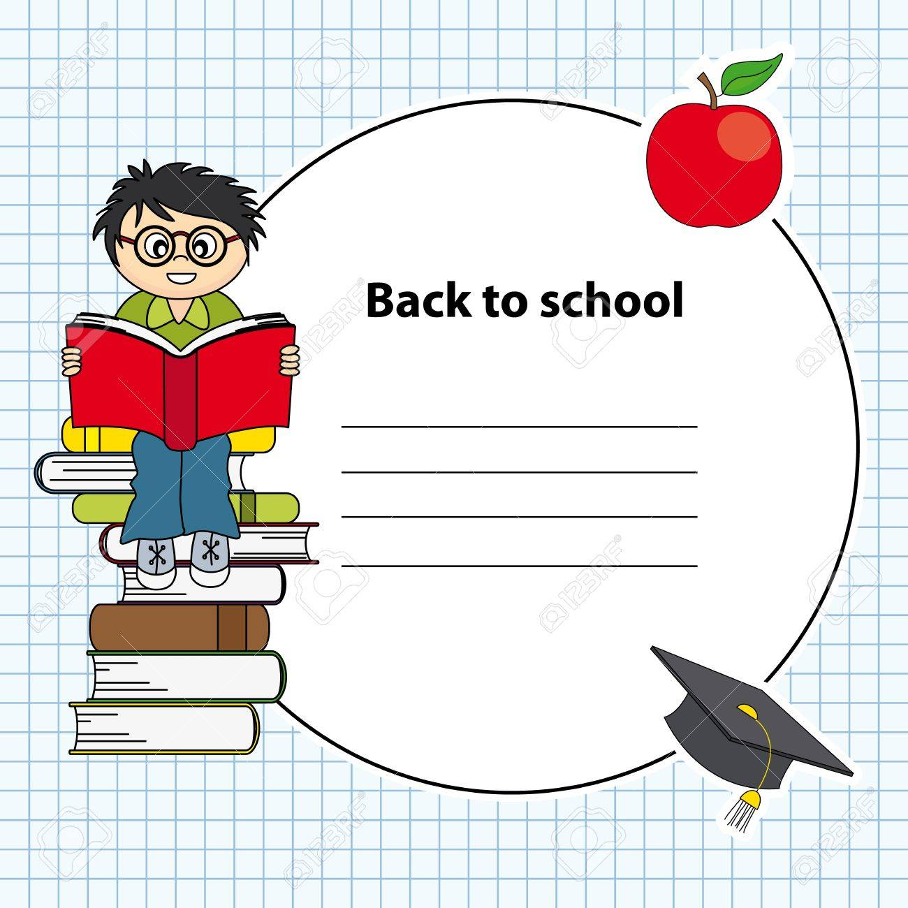 boy reading a book.Education and school icon set. Space for text Stock Vector - 14243390