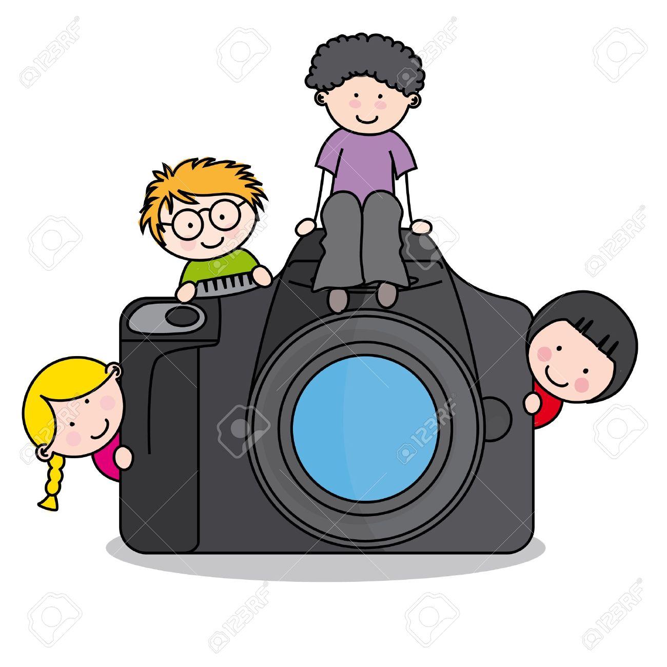 Рисунки детей с фотоаппаратом