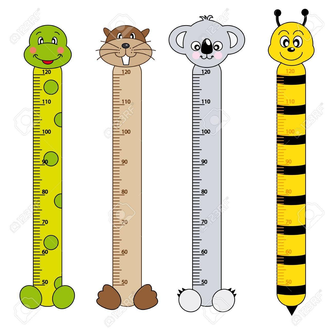 Bumper children meter wall. Animals Stickers Stock Vector - 15379913