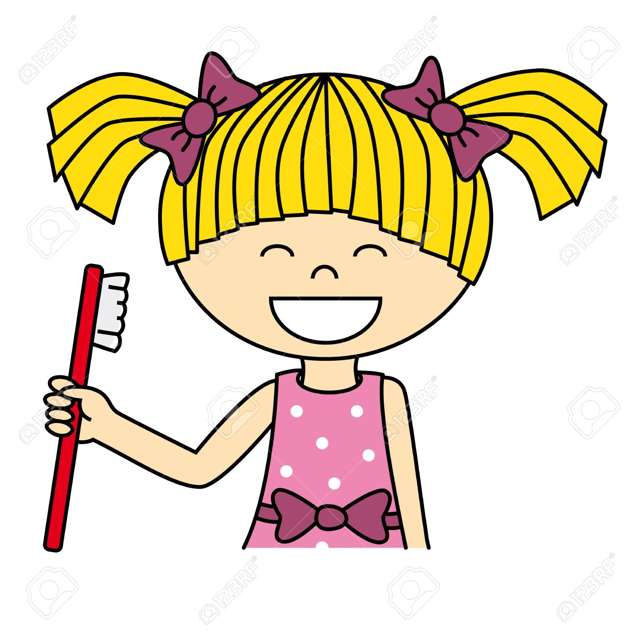 girl brushing her teeth royalty free cliparts vectors and stock rh 123rf com brush your teeth clipart brush my teeth clipart