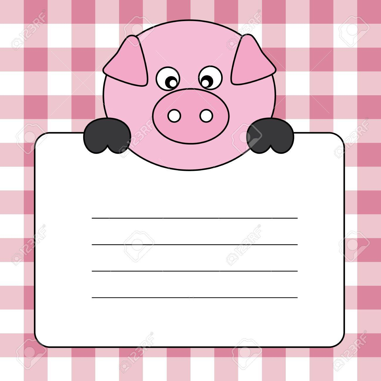 Label text. pig Stock Vector - 18866319