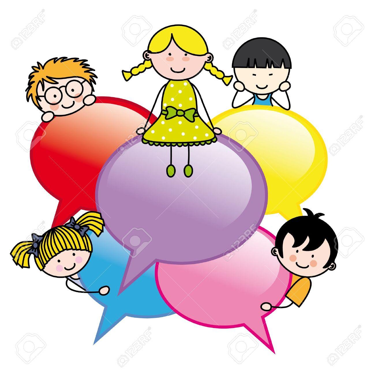 http://previews.123rf.com/images/sbego/sbego1304/sbego130400012/19094289-Children-with-dialogue-bubbles-Stock-Vector-dialogue-kindergarten.jpg