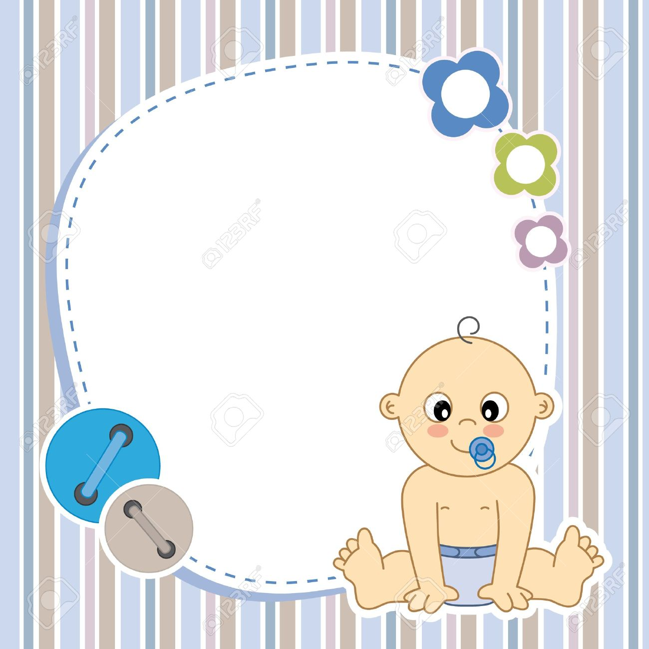 Baby boy card Space for photo or text - 20044928