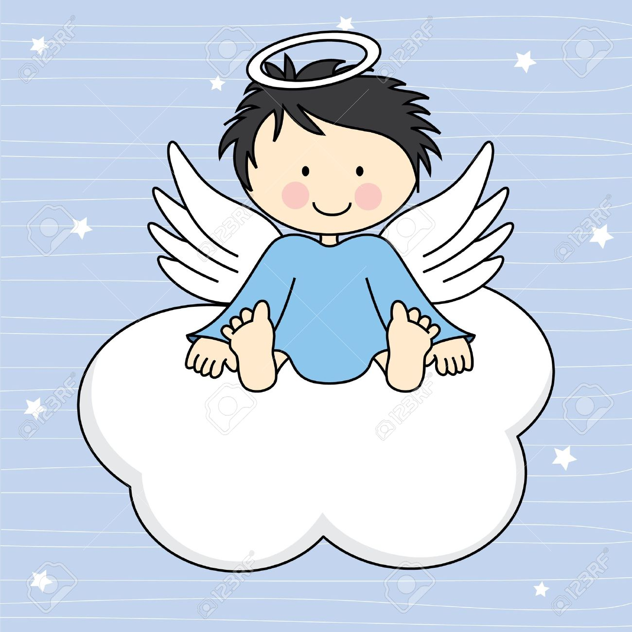 4,608 Baby Angels Stock Vector Illustration And Royalty Free Baby ...