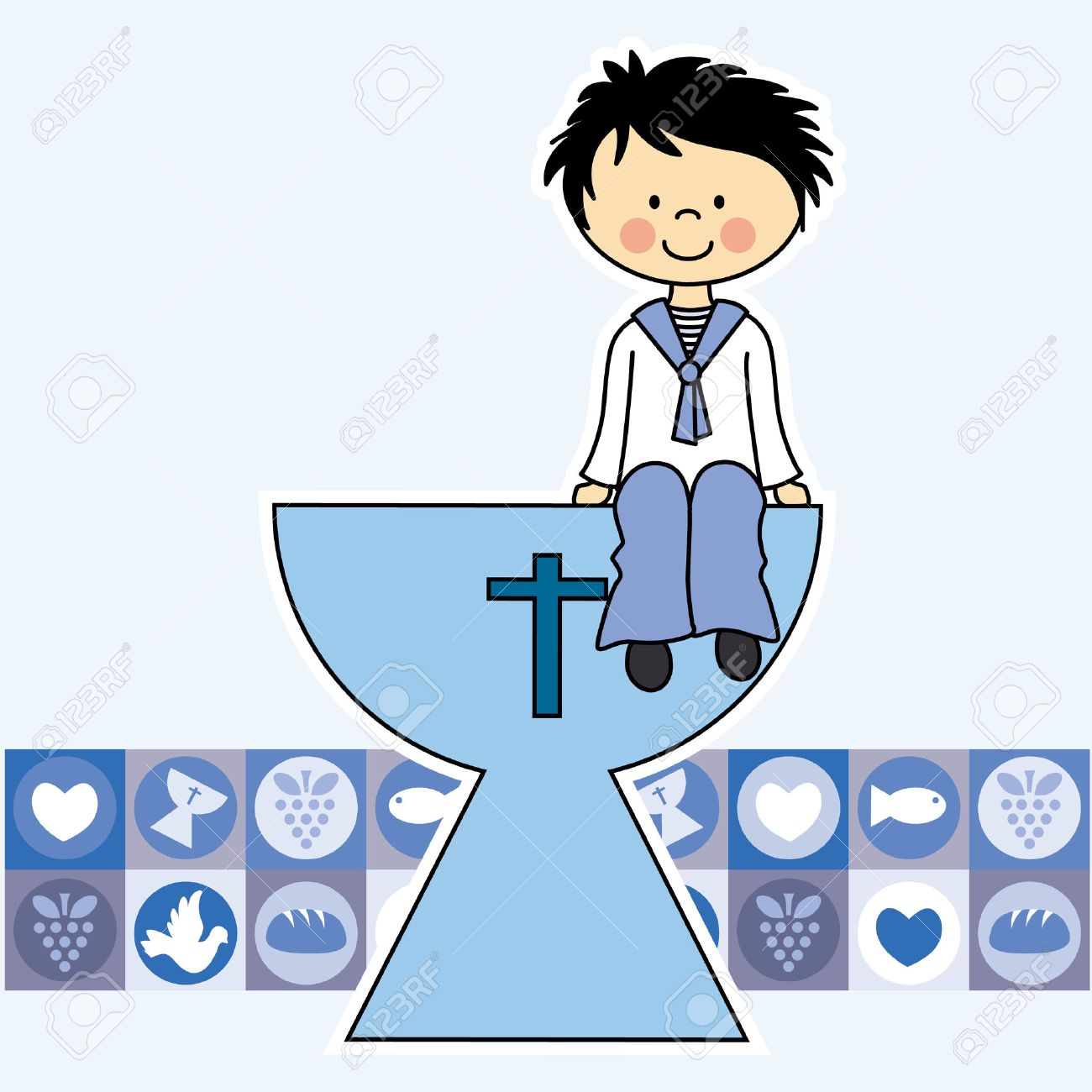 First Communion Invitation Card Boy Royalty Free Cliparts Vectors – First Communion Invitation Cards