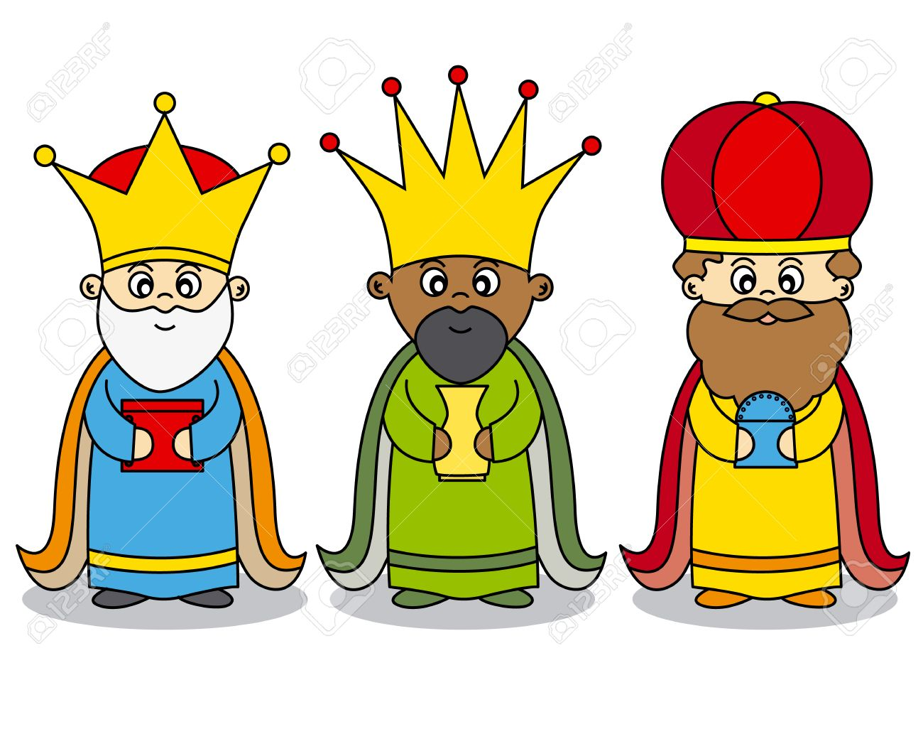 three kings vector royalty free cliparts vectors and stock rh 123rf com three wise kings clipart three kings clipart black and white