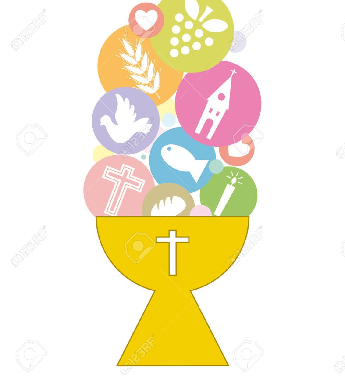 First Communion Invitation Card Stock Vector - 25126764