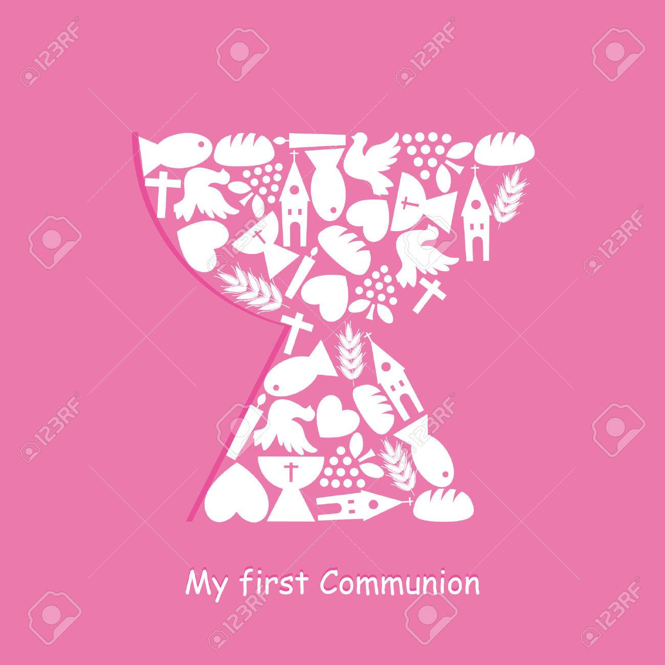 First Communion Invitation Card - 37734383