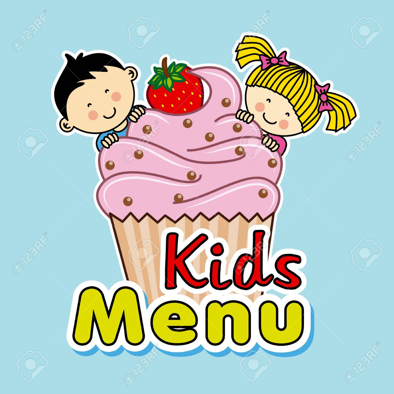 Ids menu children with a muffin royalty free cliparts vectors ids menu children with a muffin stock vector 41507587 voltagebd Gallery