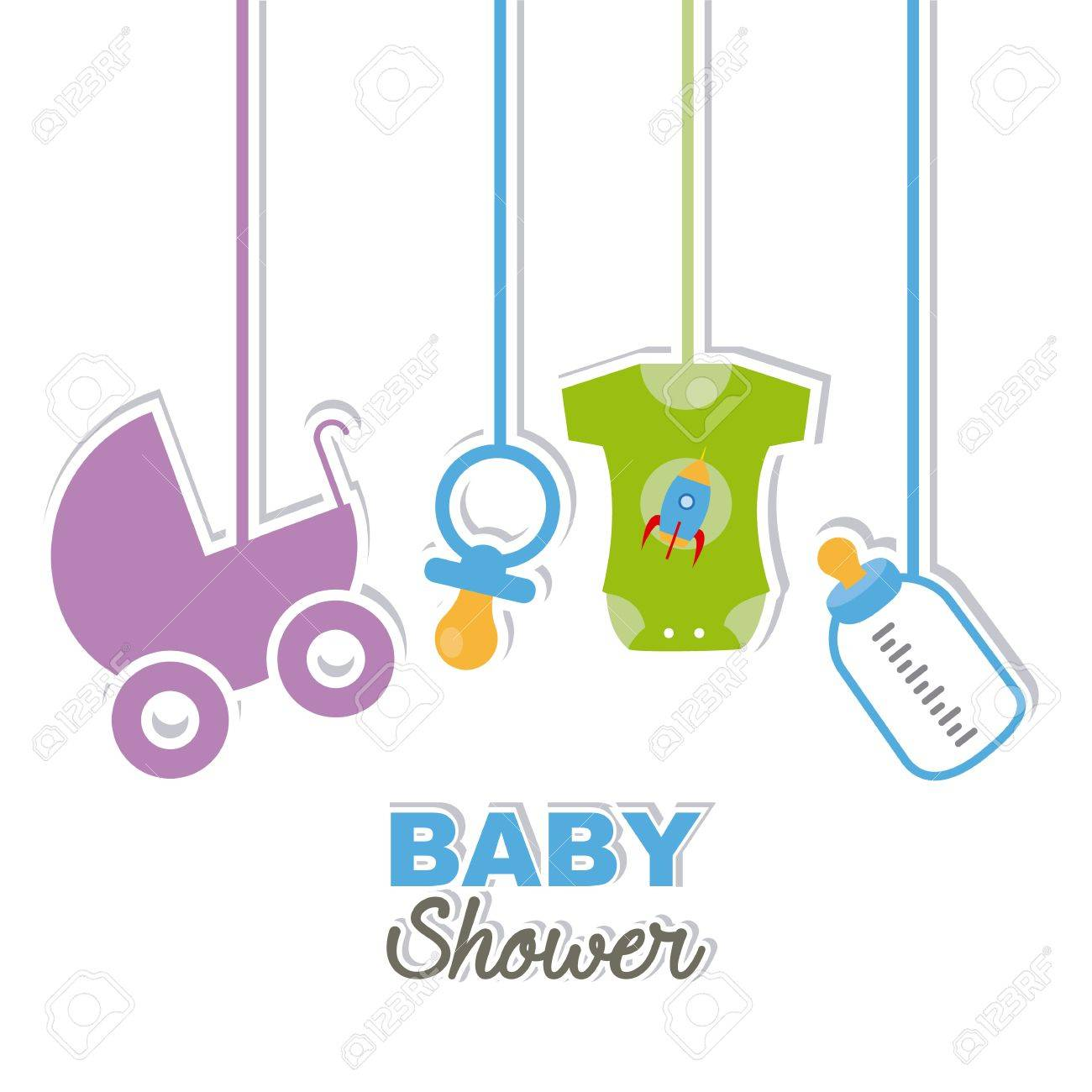 baby shower card. it s a boy Stock Vector - 64615110
