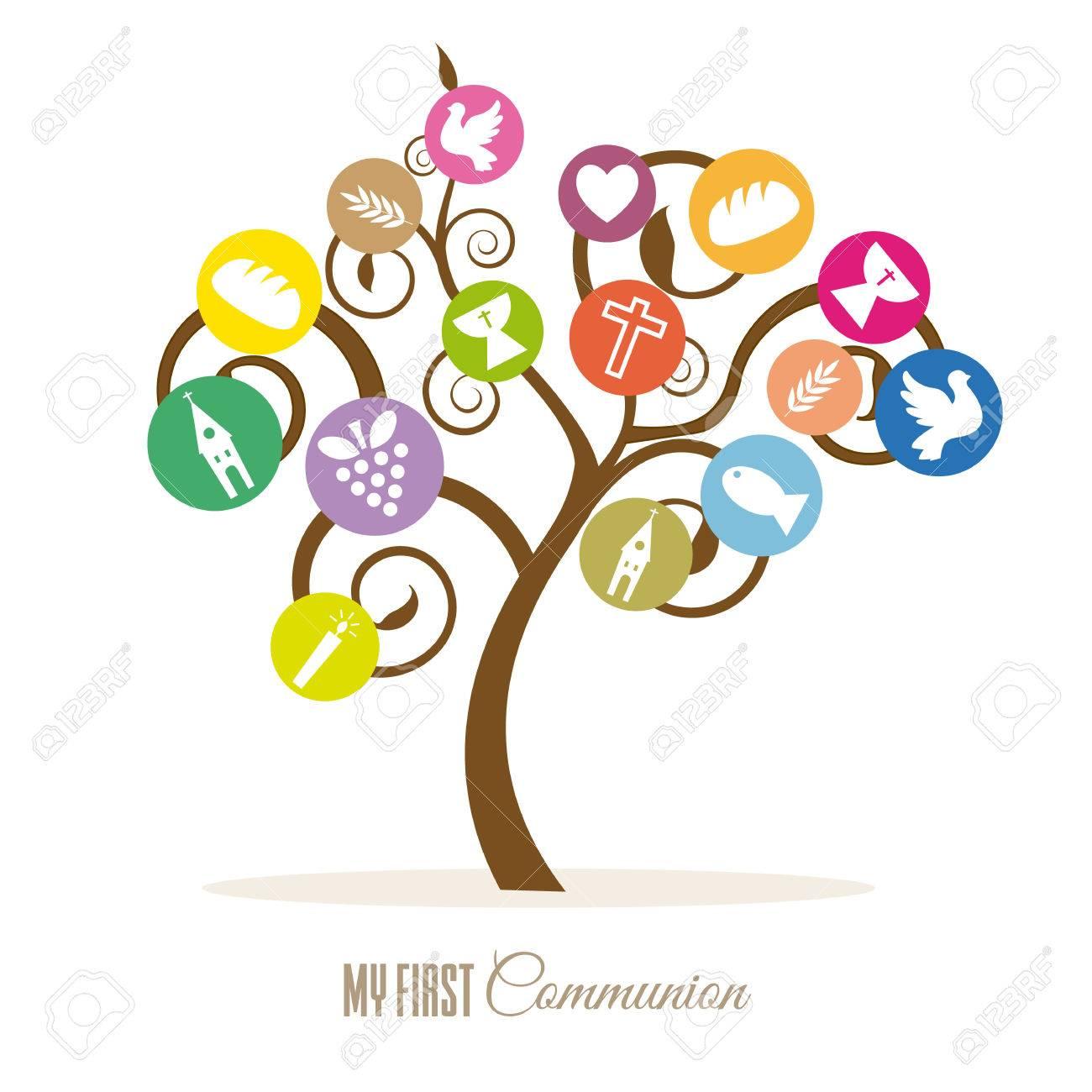 Communion invitation tree religious icons royalty free cliparts communion invitation tree religious icons stock vector 75847371 stopboris Image collections