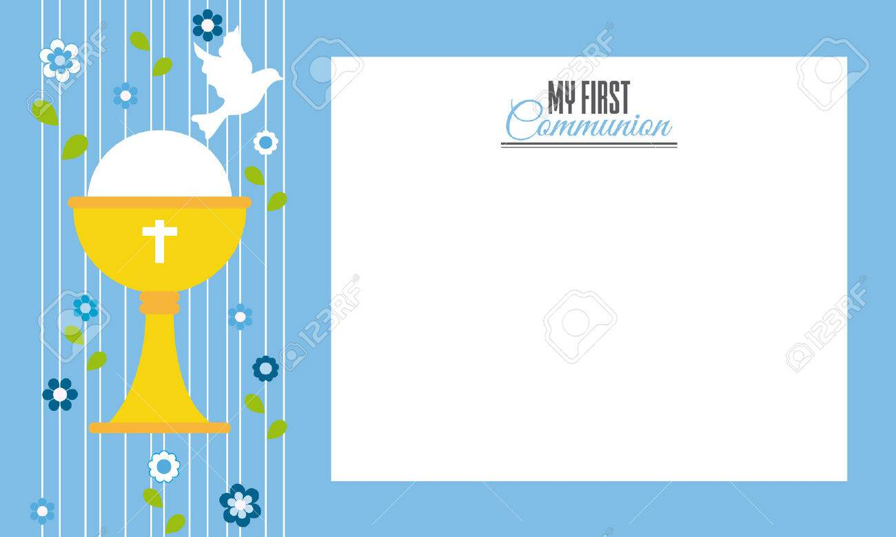 My first communion.Invitation card. Space for text - 75847375
